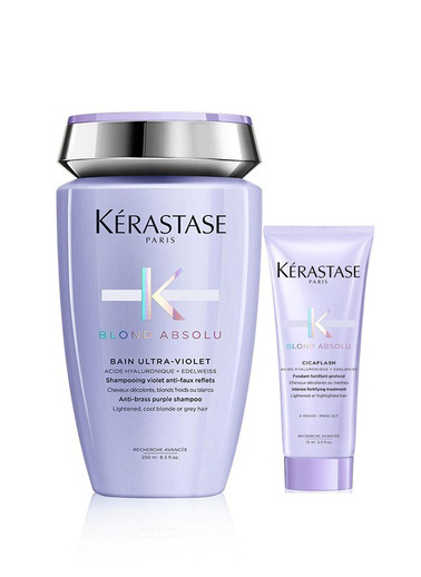 Kerastase Kerastase Blond Absolu Bain Ultra Violet Şampuan 250 ml +  Bakım Sütü - Blond Absolu Cicaflash 75 ml Renksiz